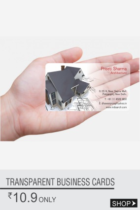 Personalized Transparent Business Cards