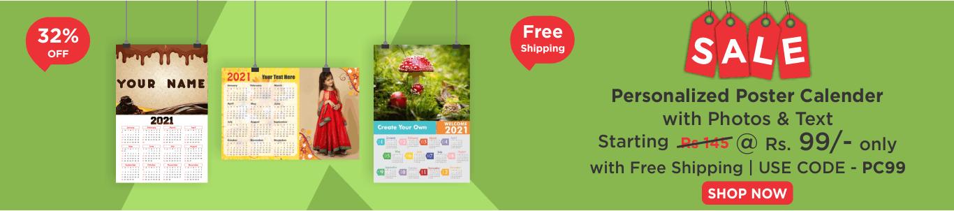Personalised Poster Photo Calendar