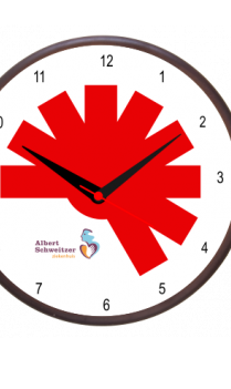 Elegant Red Wooden Clock