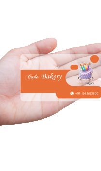 Foodie Bakery Transparent Business card