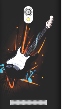 Customized Asus Zenfone 5 Musical Splash Black Mobile Cover