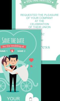 Custom Cute Wedding Invitation Card