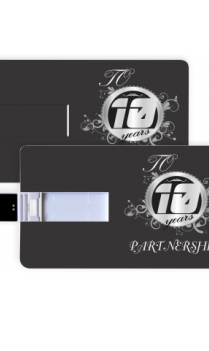 Custom Slate Gray Business Pen Drive (8, 16, 32 GB)