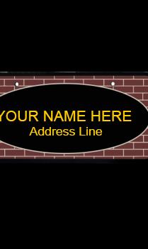 Brown Bricks Wooden Nameplate
