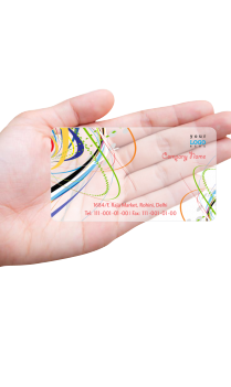 Aspiration Retailer Mod Transparent Business card