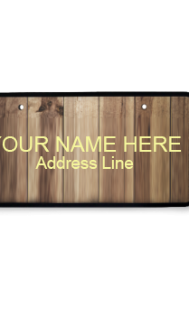Brown Wooden Nameplate