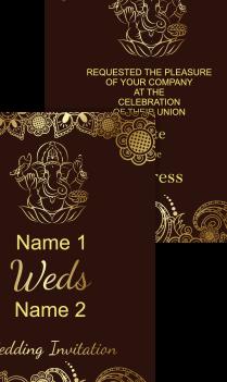 Brown Color Wedding Invitation Card