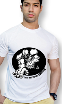 Effit Conquer White Mega Print T-Shirt