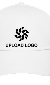 Upload Logo White Cap