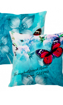 Friendship Day Butterfly Cushion Cover