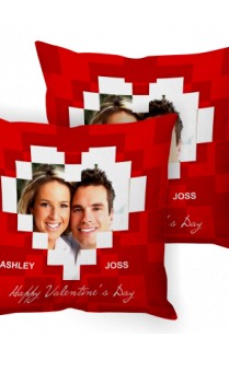 Graphic Red Valentine Day Cushion Cover