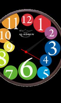 Chrome Colour Wooden Clock