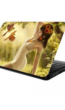 Butterfly & Lady Laptop Skin