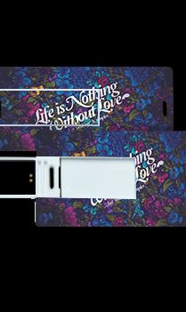 Blue Printed Theme Mini Card Pen Drive