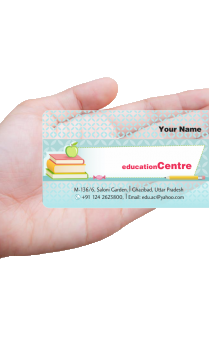 Aspiration Education Transparent Business card