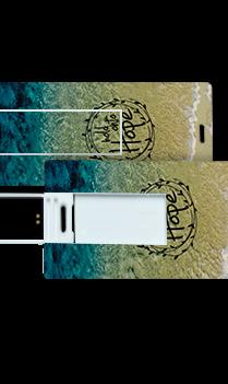 Greenish Theme Mini Card Pen Drive