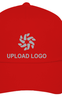 Upload Logo Red Cap