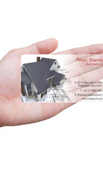 Corporate Architecture Transparent Business card