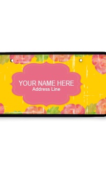 Vibrance Yellow Wooden Nameplate