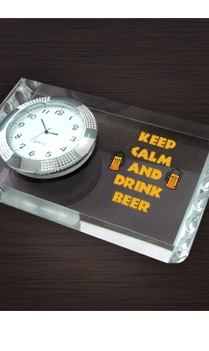 All Izz Well Paperweight With Clock