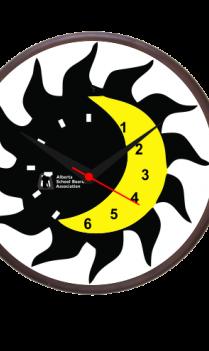 Lunar Solar Wooden Clock