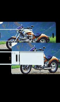 Bike Printed Mini Card Pen Drive