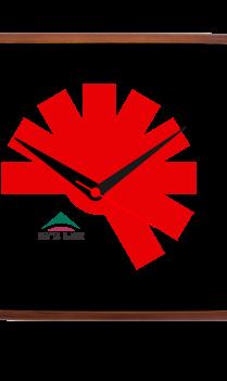 Dashing Red Wooden Clock