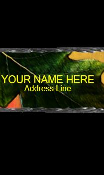 Green Leaf Rock Nameplate