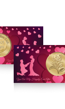 Customised Heartful Rose Gold Coin