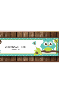Funky Brown Name Plate