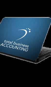 Business Elegant Blue Laptop Skin