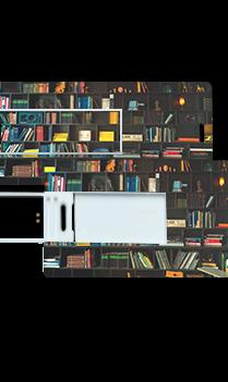 Bookshelf Mini Card Pen Drive