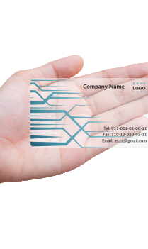The Marked Chartered Accountant Transparent Business card