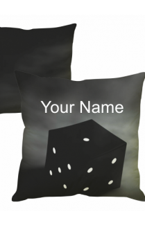 Black Dice Cushion Cover