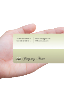 Efficient Chartered Accountant Transparent Business card (Pack of 500)