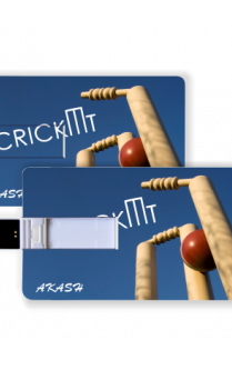 Bowled Blue Cricket Pen Drive