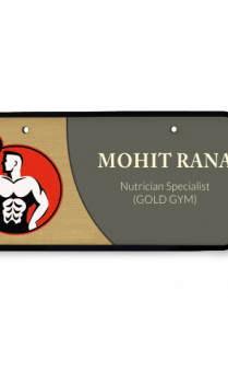 Muscle World Wooden Name Plate