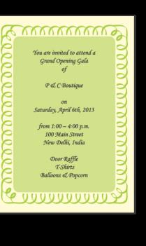 Invitation Cards 4
