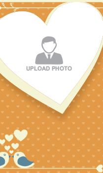 Tweeting Lovebirds Valentine Day Greeting Card