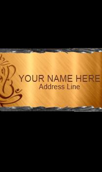 Ganesha Gold Rock Nameplate