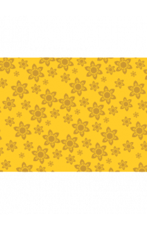 Floral Yellow Wrapping Paper