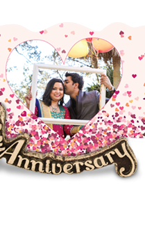 Anniversary Pink Love Photo Frame