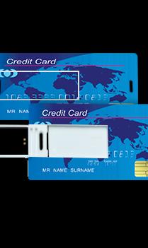 Dark Blue Credit Card Mini Card Pen Drive