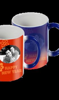 Blazing Red New Year Blue Magic Mug