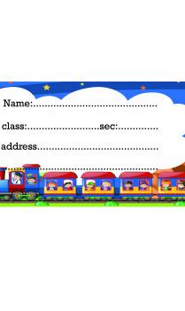 Set of 25 Pcs Customized Toy Train Sticker