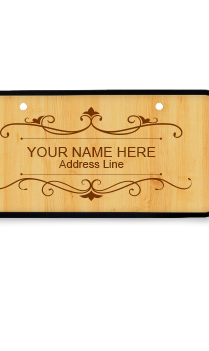 Classic Brown Wooden Name Plate