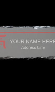 Gray Photo Rock Nameplate