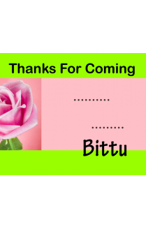 Customized Pink Rose Gift Card