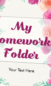 Personalized Flowers Folder