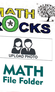 Customized Math Rocks Folder